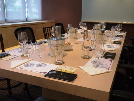 Set up in our conference room for the Tasting & Share Yalumba u2013 Private Tasting hosted by Brenton Fry | Monopole